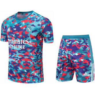 2021/22 RM Camouflagee Short Training Jersey(A Set)拉链口袋