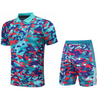 2021/22 RM Camouflagee Short POLO Jersey(A Set)拉链口袋