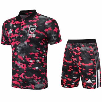 2021/22 ARS Camouflage Short POLO Jersey(A Set)拉链口袋