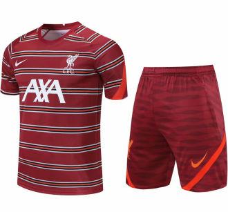 2021/22 LFC Red Short Training Jersey(A Set)拉链口袋