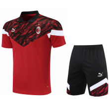 2021/22 AC Red Short POLO Jersey(A Set)拉链口袋