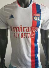 2021/22 Lyon Home Whit Player Version Soccer Jersey