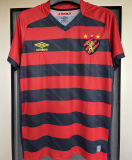 2021/22 Recife 1:1 Quality Home Black Red Fans Soccer Jersey