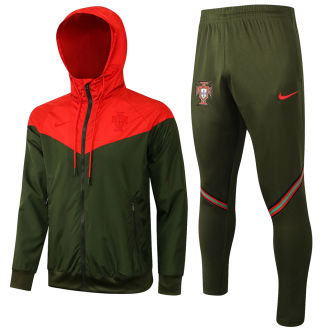 2021/22 Portugal Red And Green Windbreaker Full Sets