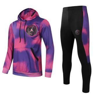 2021/22 PSG Pink Purple Hoodie Training Tracksuit