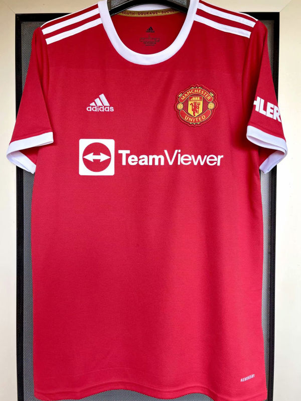 2021/22 M Utd 1:1 Quality Home Red Fans Soccer Jersey