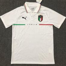 2021/22 Italy White Polo Short Jersey