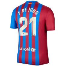 F.DE JONG #21 BA 1:1 Home Fans Soccer Jersey 2021/22 (League Player Fonts 球员字体)