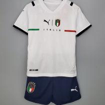 2021/22 Italy Away White Kids Soccer Jersey