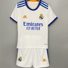 2021/22 RM Home White Kids Soccer Jersey