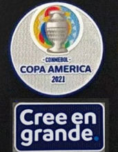 COPA AMERICA 2021 + Cree en grande Patch 美洲杯章2021 +Cree en grande (You can buy it Or tell me to print it on the Jersey )