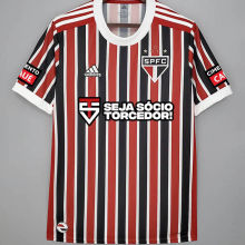 2021/22 Sao Paulo 1:1 Away Fans Jersey(All AD 全广告,)