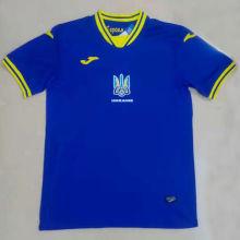 2021/22 Ukraine Away Blue Fans Soccer Jersey