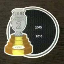 COPA AMERICA  2 Cup Patch 2015,2016 Chile Jersey 2字杯美洲杯智利专用