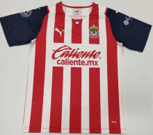 2021/22 Chivas Home Red White Fans Soccer Jersey