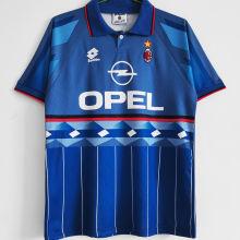 1995/96 AC Milan Away Blue Retro Soccer Jersey