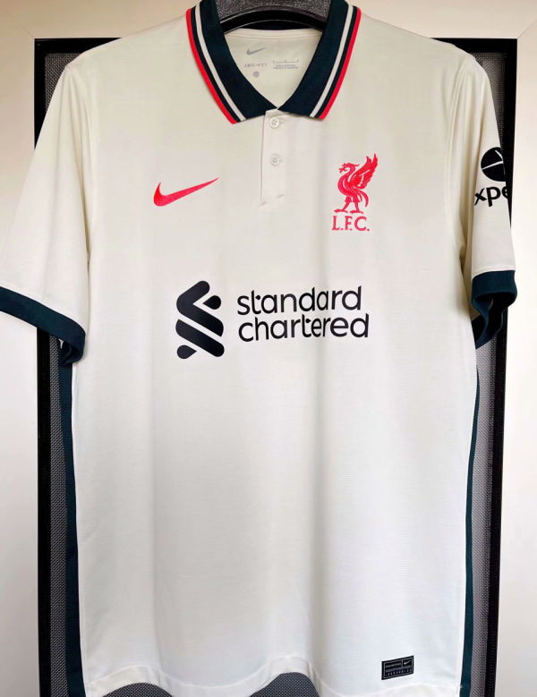 2021/22 LFC 1:1 Quality Away Beige Fans Soccer Jersey