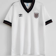 1984/1987 England Home White Retro Soccer Jersey