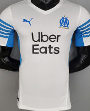 2021/22 Marseille Home White Player Soccer Jersey