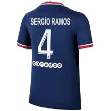 SERGiO RAMOS #4 PSG Home 1:1 Fans Soccer Jersey 2021/22