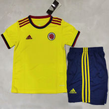 2021 Colombia Home Yellow Kids Soccer Jersey