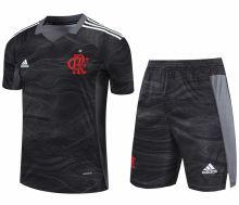 2021/22 Flamengo Black GK Soccer Jersey(A Set)