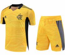 2021/22 Flamengo Yellow GK Soccer Jersey(A Set)