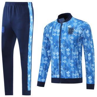1990 England Blue Retro Jacket Tracksuit
