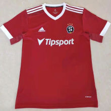 2021/22 Sparta Prague Home Red Fans Soccer Jersey