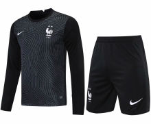 2021/22 France Black GK Long Sleeve Soccer Jersey(A Set)