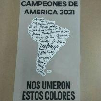 CAMPEONES DE AMERICA 2021 Argentina Jersey 阿根廷背后广告