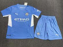 2021/22 Man City Home Blue Kids Soccer Jersey
