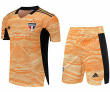 2021/22 Sao Paulo Yellow GK Soccer Jersey(A Set)(Pants Have Number)裤有号码