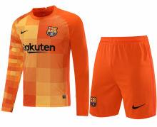 2021/22 BA Orange GK Long Sleeve Soccer Jersey(A Set)(Pants Have Number)裤有号码