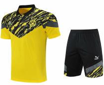 2021/22 BVB Yellow Short  POLO Jersey(A Set)拉链口袋