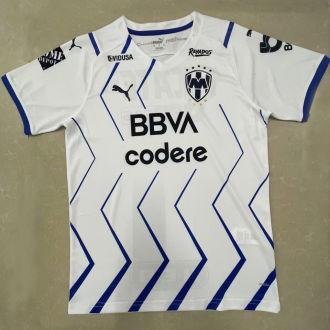 2021/22 Monterrey Away White Fans Soccer Jersey