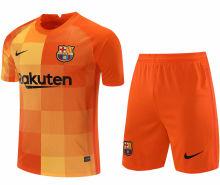 2021/22 BA Orange GK Soccer Jersey(A Set)(Pants Have Number)裤有号码