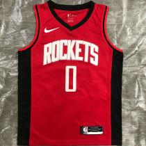 2021 Rockets WESTBROOK # 0 Red NBA Jerseys Hot Pressed
