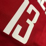 2021 Rockets HARDEN  #13 Red NBA Jerseys Hot Pressed