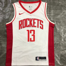 2021 Rockets HARDEN  #13 White NBA Jerseys Hot Pressed