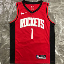 2021 Rockets McGRADY #1 Red NBA Jerseys Hot Pressed