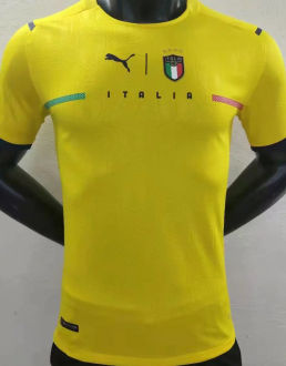 2021/22 Italy Yellow GK Player Version Soccer Jersey