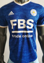 2021/22 Leicester City Home Blue Player Soccer Jersey