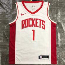 2021 Rockets McGRADY #1 White NBA Jerseys Hot Pressed
