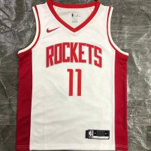 2021 Rockets YAO  #11 White NBA Jerseys Hot Pressed