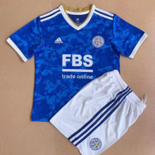 2021/22 Leicester Home Blue Kids Soccer Jersey