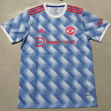 2021/22 M Utd Away Blue White Fans Soccer Jersey