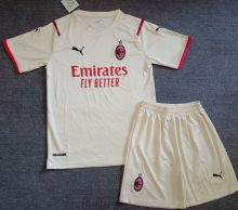 2021/22 AC Milan Away White Kids Soccer Jersey
