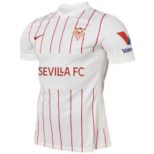 2021/22 Sevilla Home White Fans Soccer Jersey