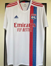 2021/22 Lyon 1:1 Quality Home White Fans Soccer Jersey